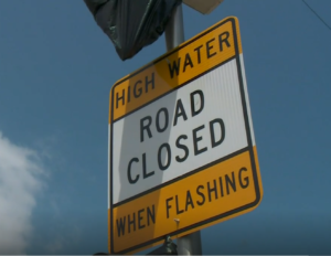 High Water Detection Warning Sign